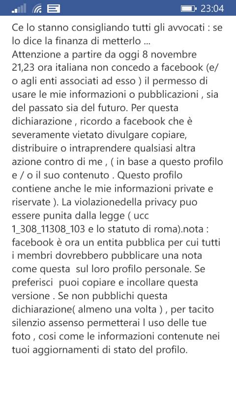 Lo strano caso dell'uomo che non ha condiviso il post per difendere la sua privacy suFacebook